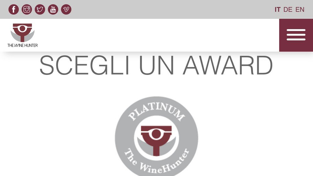 THE WINEHUNTER AWARD: PRIMI PASSI PER MERANO WINE FESTIVAL