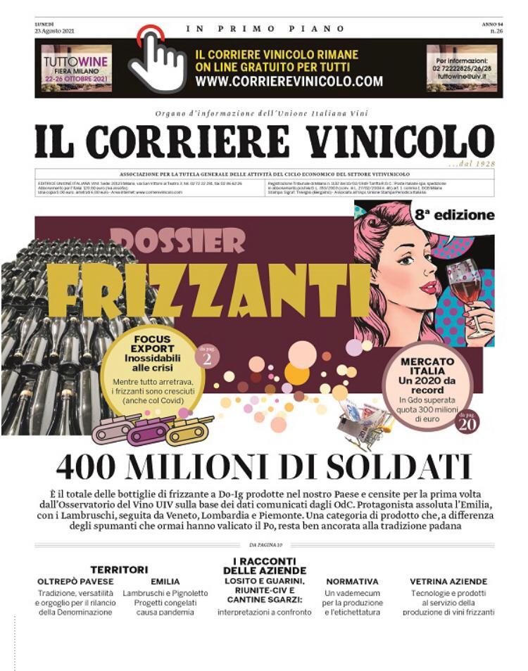 dossier frizzanti Corriere Vinicolo